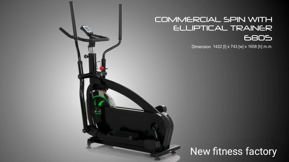 Elliptical cross trainer 6805
